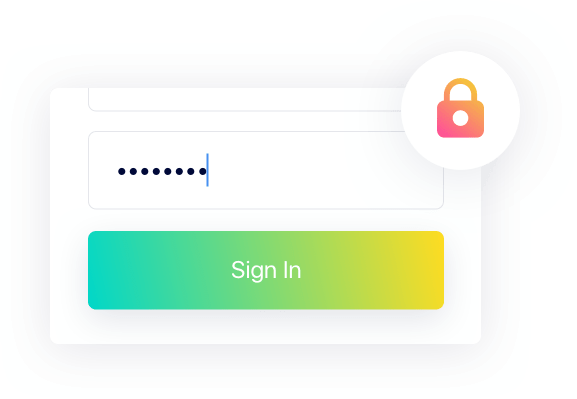 Product Shot of login screen