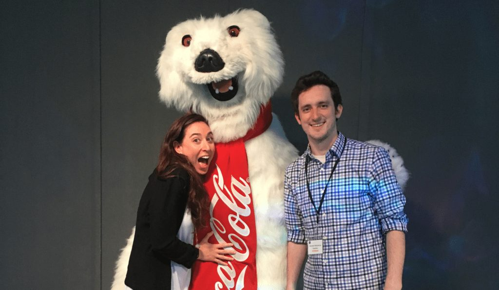 Brennan and Jess with Coca Cola from SoapBox