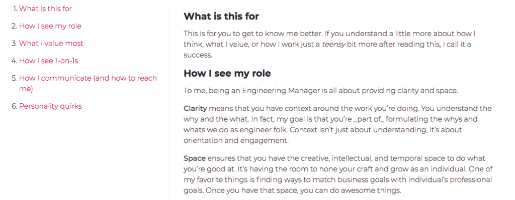 Manager README of Mike Douglas, Engineering Manager at InVision