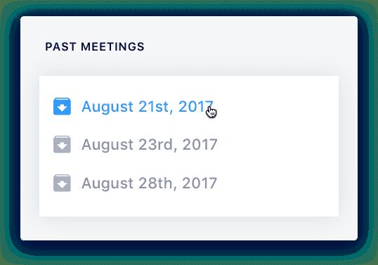 SoapBox shared meeting agenda - past meetings