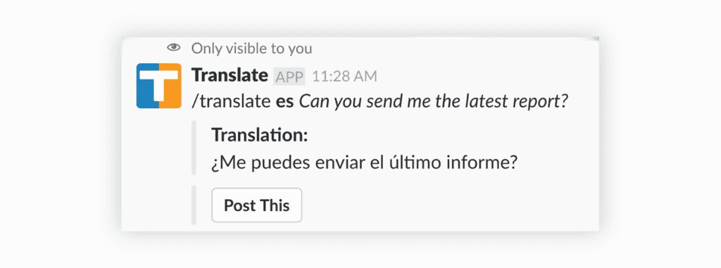 Translate for Slack