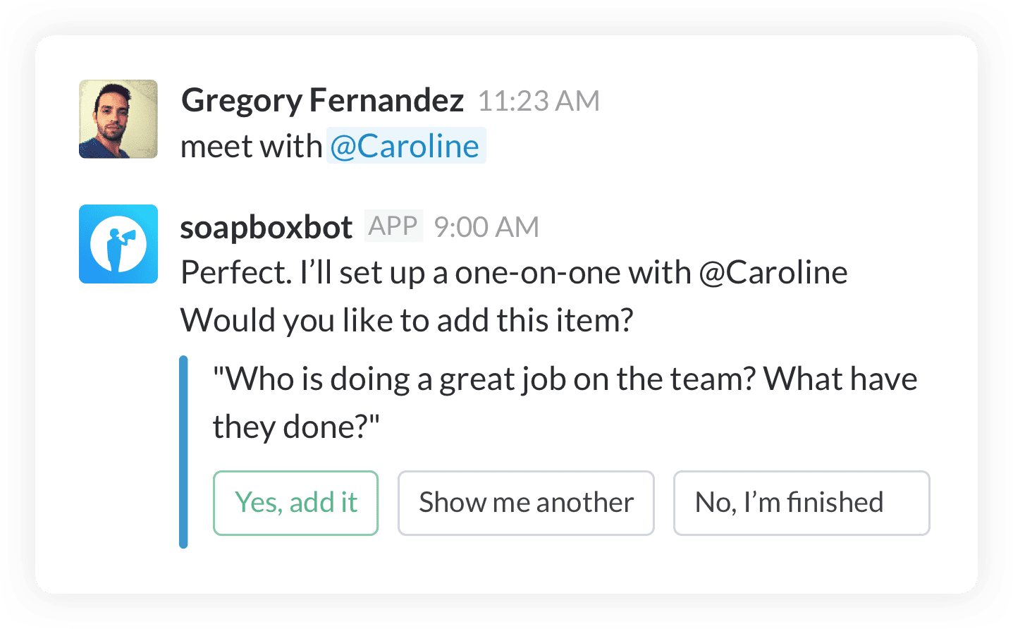 Using the SlackBot
