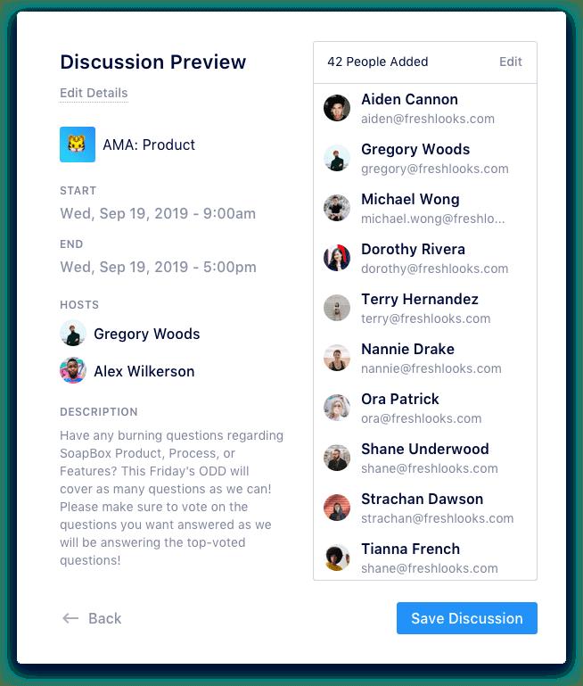 Soapbox - discussions idea management