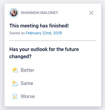 Meeting effectiveness survey questions