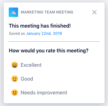 Meeting Rating