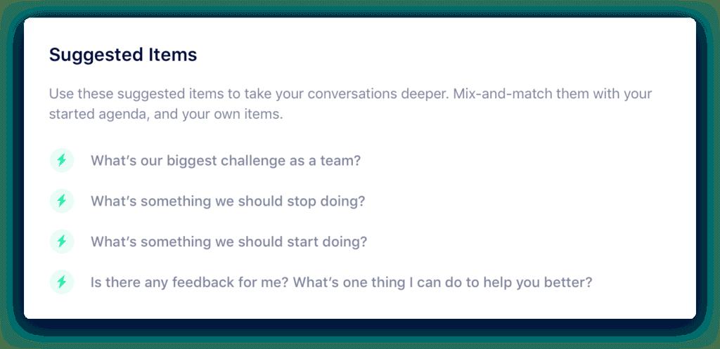 Sales team meeting agenda - suggested items
