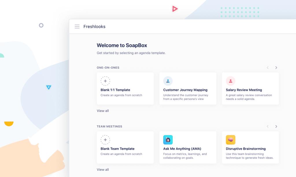 Agenda templates in app view