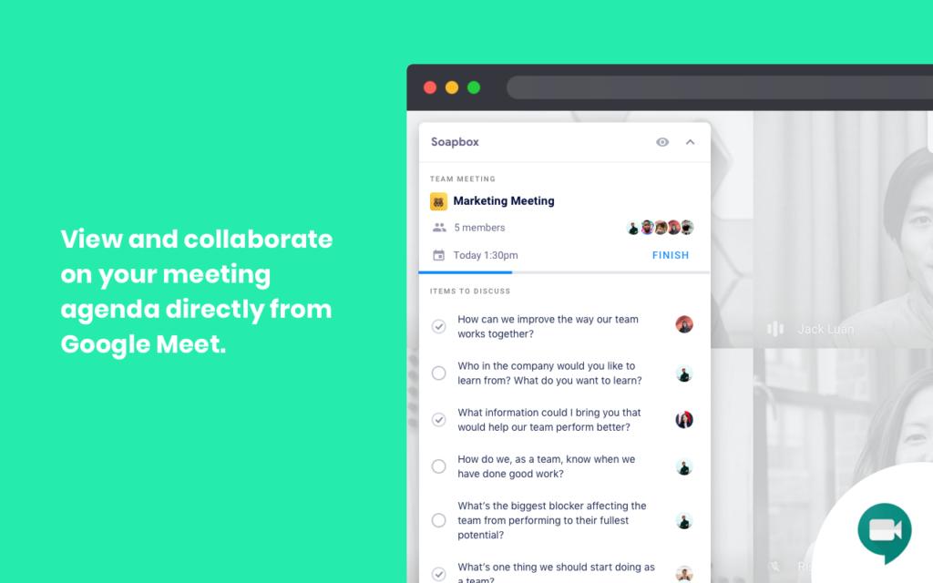 Soapbox Chrome Extension Google Meet