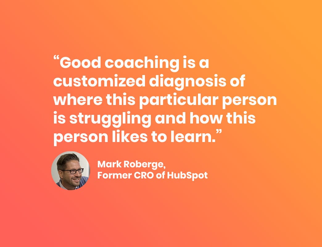 Mark Roberge quote on People Leading People podcast