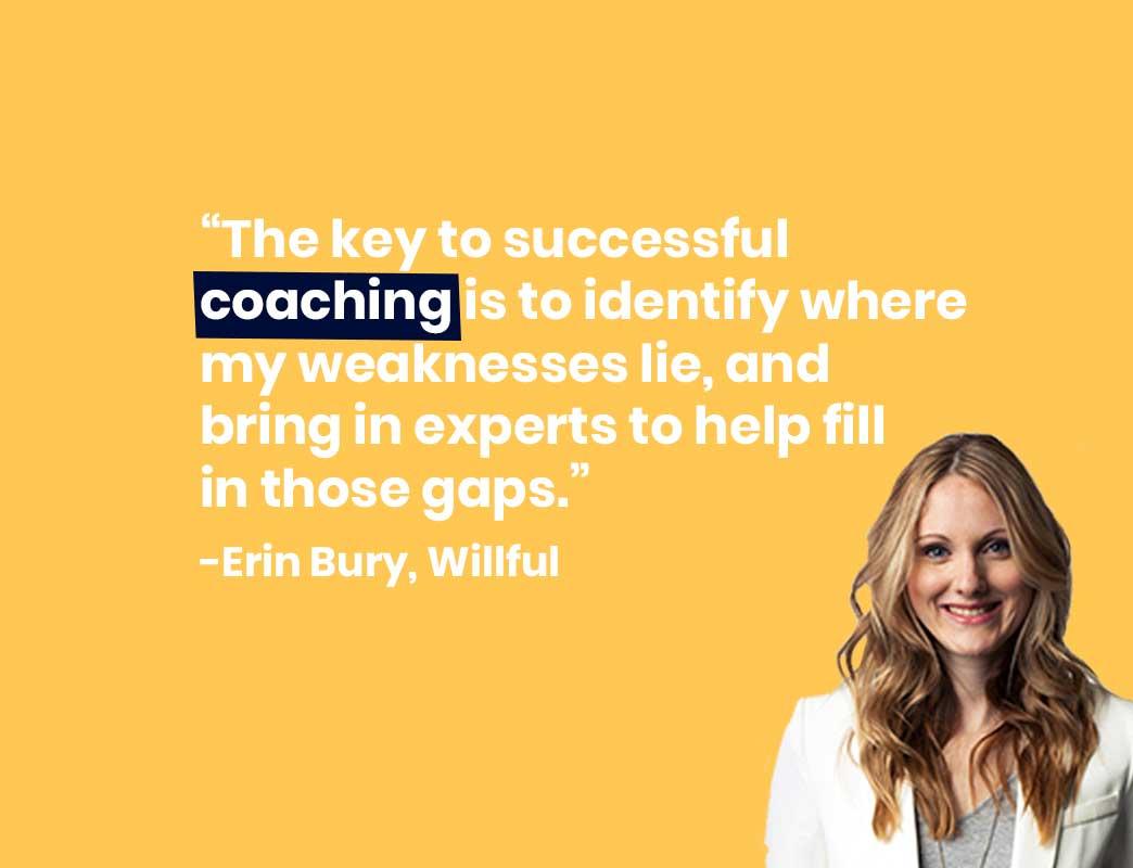 Erin bury quote on managing senior leaders