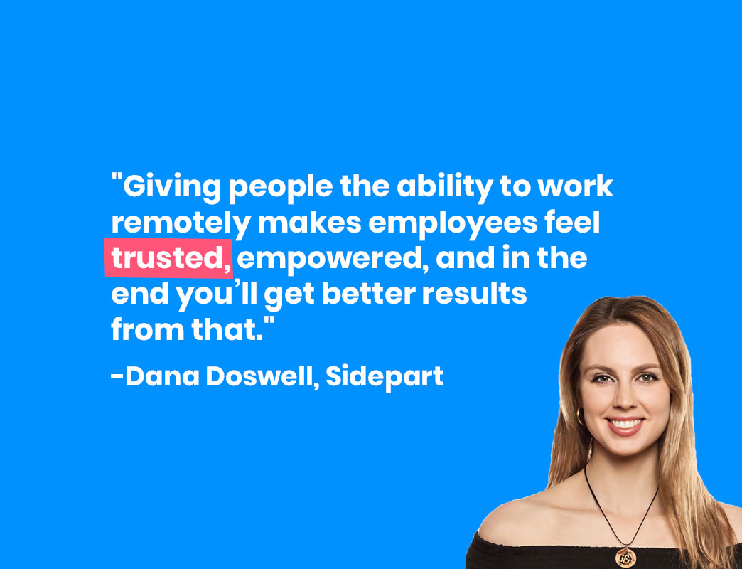 Dana Doswell on remote work