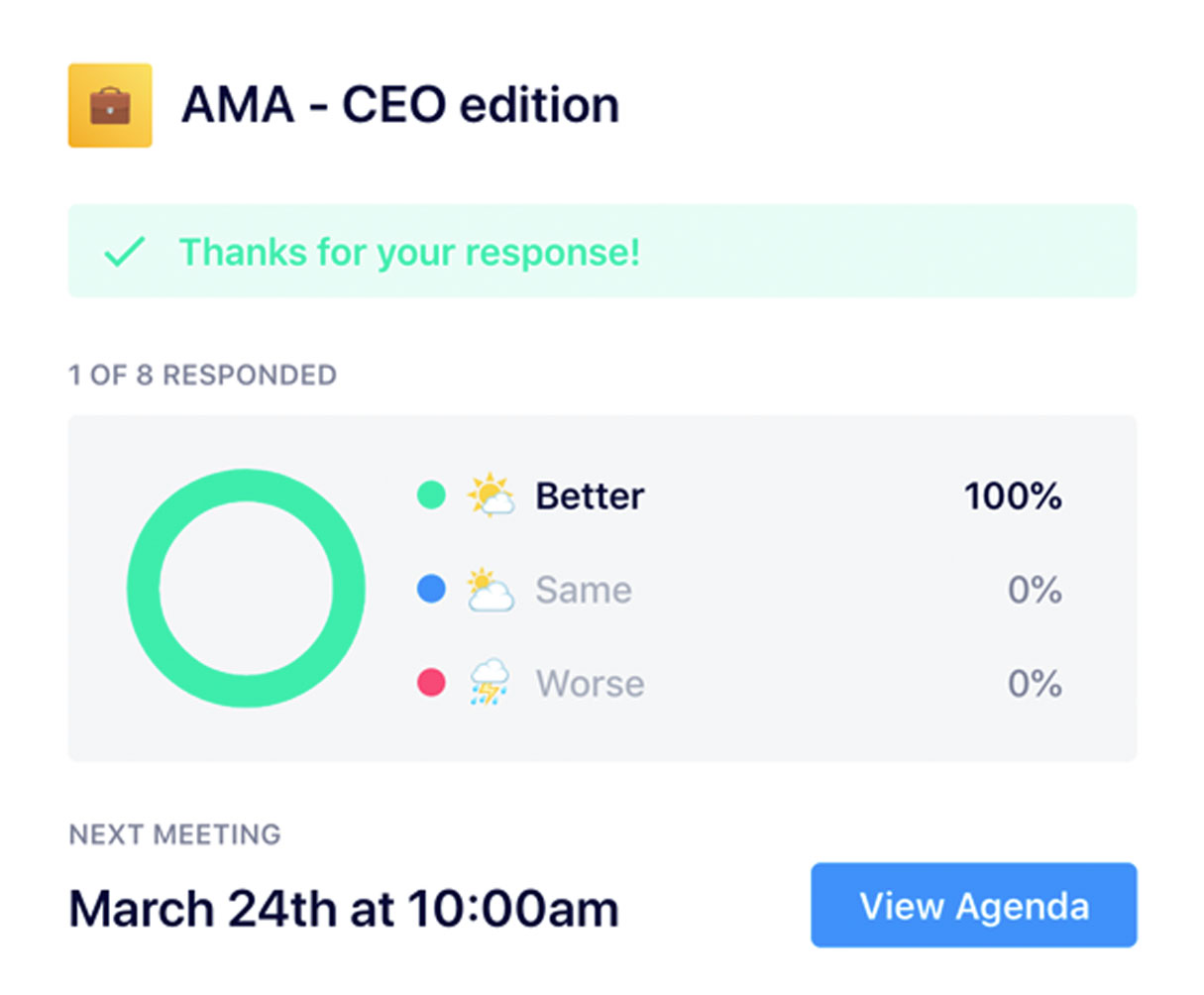AMA meeting rating