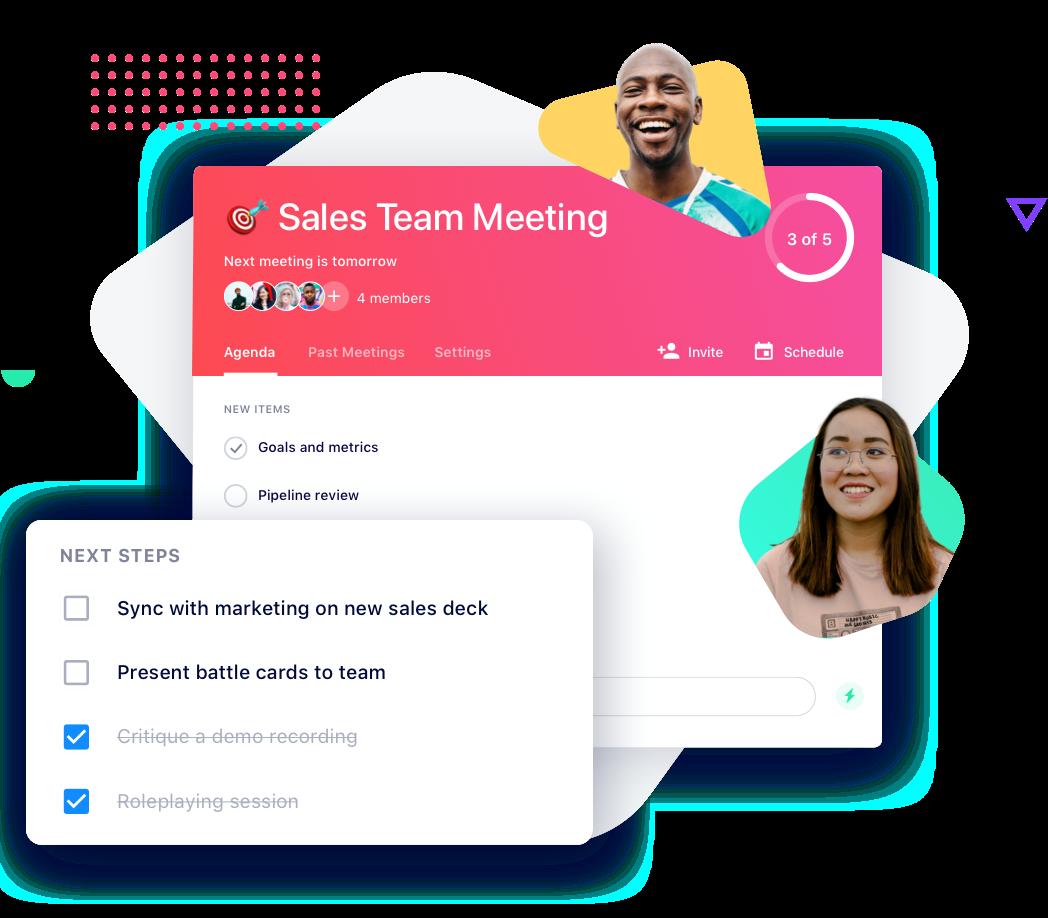 Sales team meeting agenda