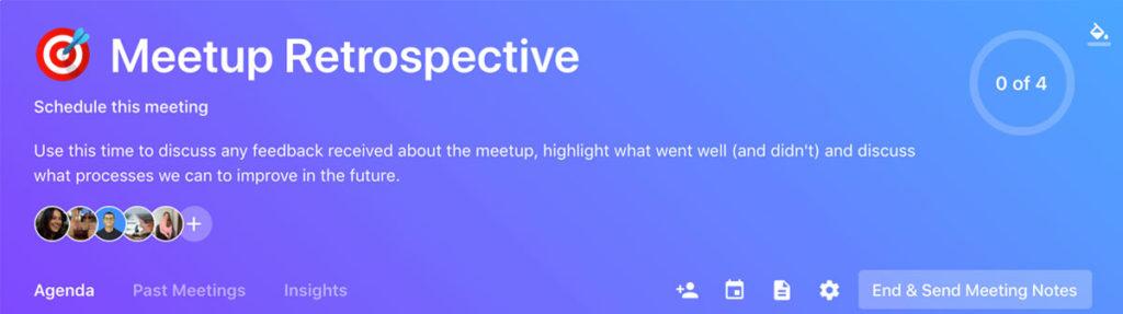 effective team meeting description