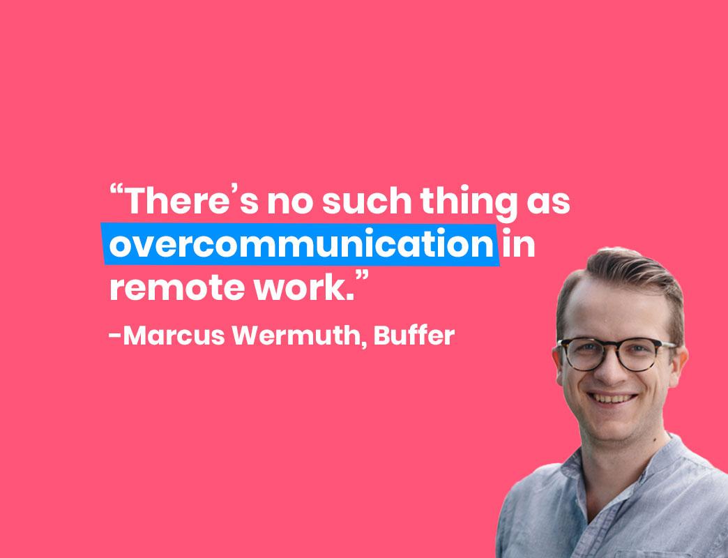 Marcus Wermuth Buffer Remote Work
