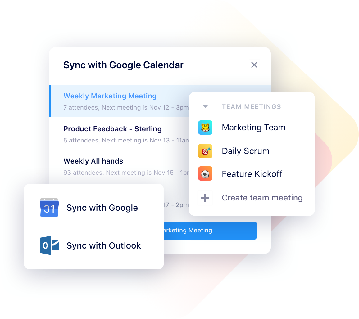 set up your team meeting agenda