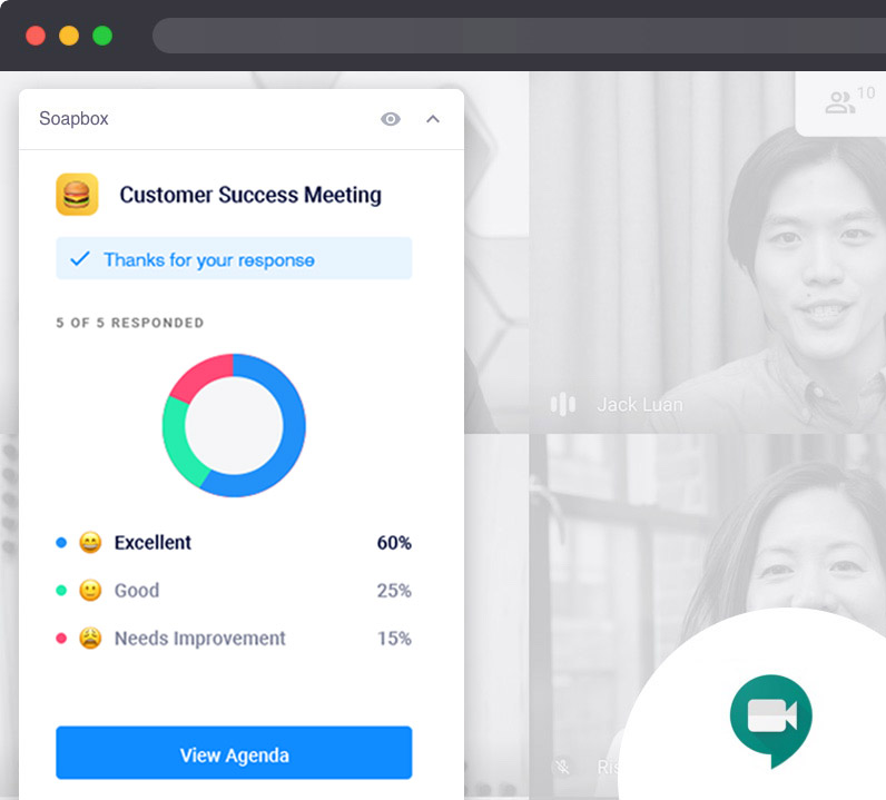 meeting rating google meet chrome extension