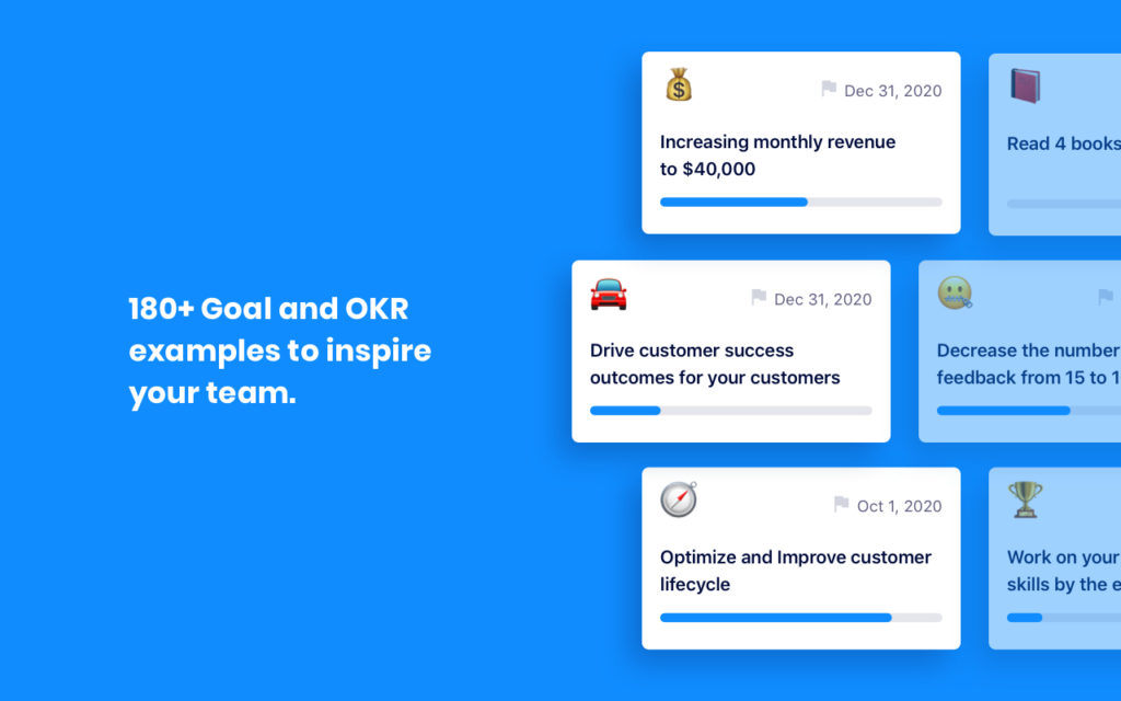 over 180 goal and okr examples for every role in tech