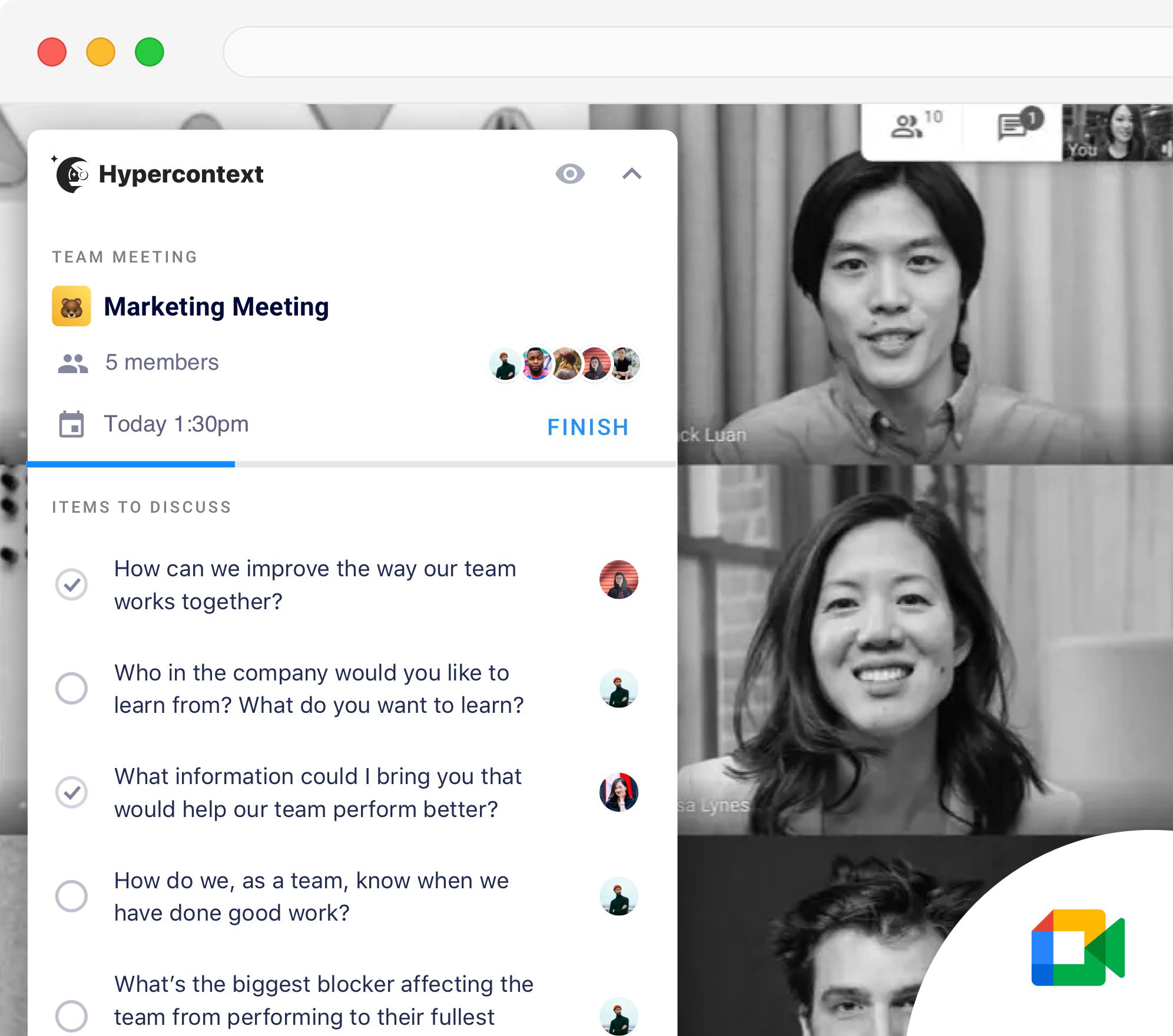 google meet chrome extension