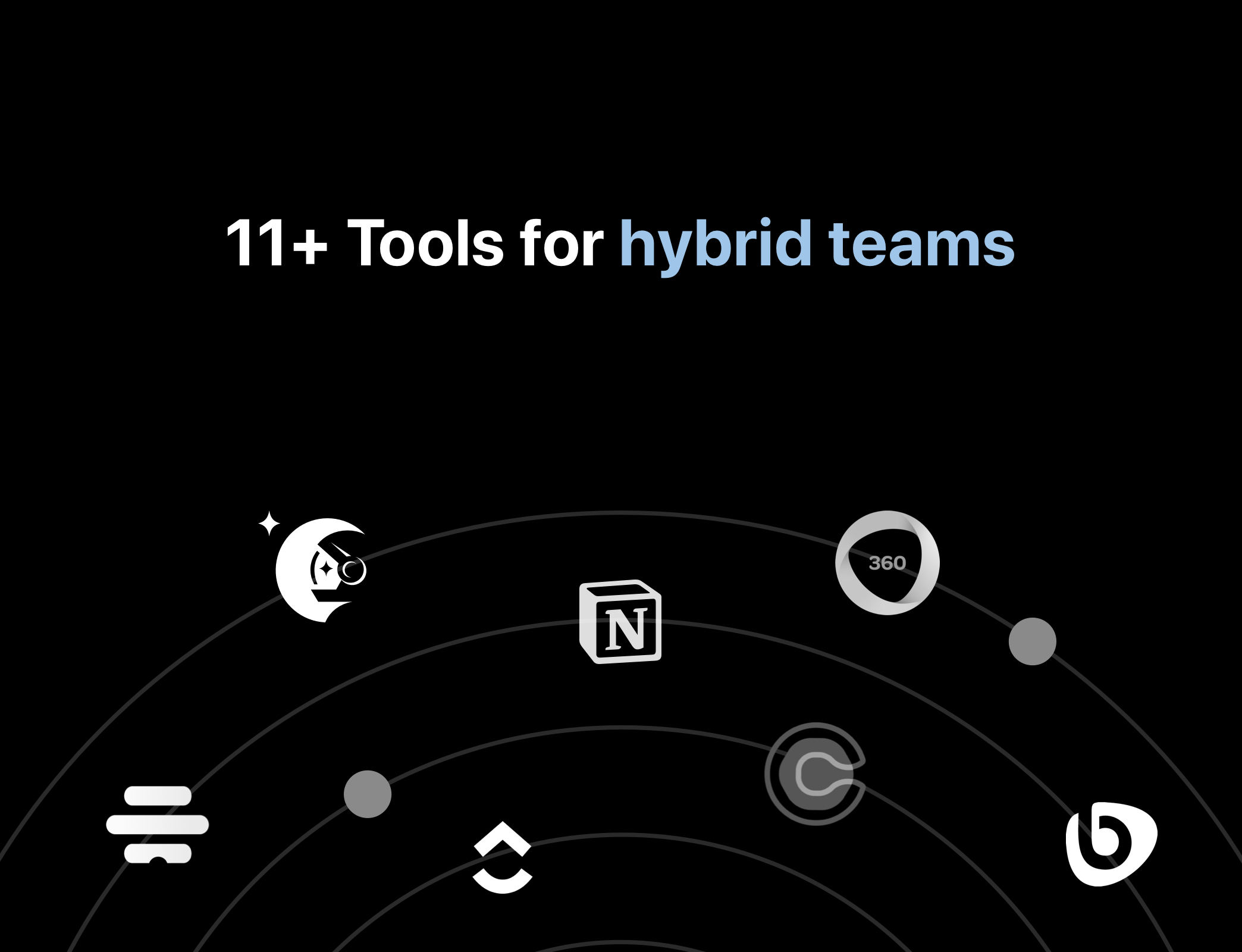 remote tools for hybrid teams